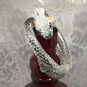 Silver Tone Metal Mesh Snake Bracelet